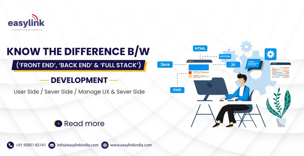 Know the DIFFERENCE BETWEEN ('FRONT END', 'BACK END' & 'FULL STACK') DEVELOPMENT